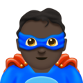 Man Superhero: Dark Skin Tone on Emojipedia 11.1
