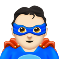 Man Superhero: Light Skin Tone on Emojipedia 11.1