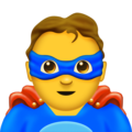 Man Superhero on Emojipedia 11.1