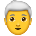Man, White Haired on Emojipedia 11.1