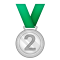 2nd Place Medal on Emojipedia 11.1