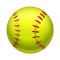 Softball on Emojipedia 11.1