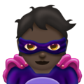 Supervillain: Dark Skin Tone on Emojipedia 11.1