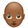 Woman, Bald: Medium-Dark Skin Tone on Emojipedia 11.1