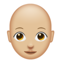 Woman, Bald: Medium-Light Skin Tone on Emojipedia 11.1