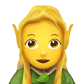 Woman Elf on Emojipedia 11.1