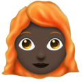 Woman, Red Haired: Dark Skin Tone on Emojipedia 11.1