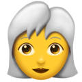 Woman, White Haired on Emojipedia 11.1
