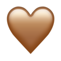 Brown Heart on Emojipedia 12.0