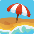 Beach With Umbrella on Facebook 2.1