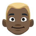 Blond-Haired Man: Dark Skin Tone on Facebook 2.1