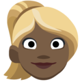 Blond-Haired Woman: Dark Skin Tone on Facebook 2.1