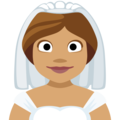 Bride With Veil: Medium Skin Tone on Facebook 2.1