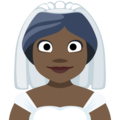 Bride With Veil: Dark Skin Tone on Facebook 2.1
