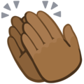 Clapping Hands: Medium-Dark Skin Tone on Facebook 2.1