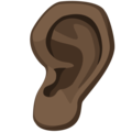 Ear: Dark Skin Tone on Facebook 2.1