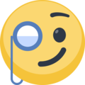 Face With Monocle on Facebook 2.1