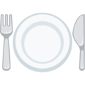 Fork and Knife With Plate on Facebook 2.1