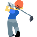 Person Golfing on Facebook 2.1