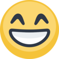Grinning Face With Smiling Eyes on Facebook 2.1