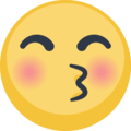 Kissing Face With Closed Eyes on Facebook 2.1