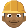Man Construction Worker: Medium-Dark Skin Tone on Facebook 2.1