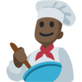 Man Cook: Dark Skin Tone on Facebook 2.1