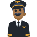 Man Pilot: Medium-Dark Skin Tone on Facebook 2.1