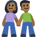 Man and Woman Holding Hands, Type-5 on Facebook 2.1