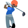 Man Golfing: Dark Skin Tone on Facebook 2.1