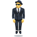 Man in Business Suit Levitating on Facebook 2.1