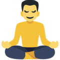 Man in Lotus Position on Facebook 2.1