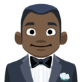 Man in Tuxedo: Dark Skin Tone on Facebook 2.1