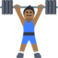 Man Lifting Weights: Medium-Dark Skin Tone on Facebook 2.1