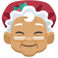 Mrs. Claus: Medium Skin Tone on Facebook 2.1