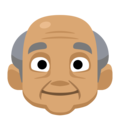 Old Man: Medium Skin Tone on Facebook 2.1