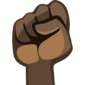 Raised Fist: Dark Skin Tone on Facebook 2.1