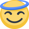 Smiling Face With Halo on Facebook 2.1