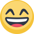 Smiling Face With Open Mouth & Smiling Eyes on Facebook 2.1