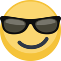 Smiling Face With Sunglasses on Facebook 2.1
