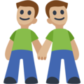 Two Men Holding Hands, Type-3 on Facebook 2.1