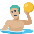 Person Playing Water Polo: Medium-Light Skin Tone on Facebook 2.1