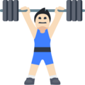 Person Lifting Weights: Light Skin Tone on Facebook 2.1