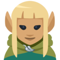 Woman Elf: Medium Skin Tone on Facebook 2.1