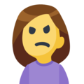 Woman Frowning on Facebook 2.1