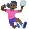 Woman Playing Handball: Dark Skin Tone on Facebook 2.1