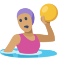 Woman Playing Water Polo: Medium Skin Tone on Facebook 2.1