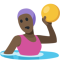 Woman Playing Water Polo: Dark Skin Tone on Facebook 2.1