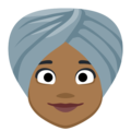 Woman Wearing Turban: Medium-Dark Skin Tone on Facebook 2.1