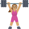 Woman Lifting Weights: Medium Skin Tone on Facebook 2.1